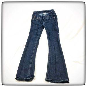 True Religion Size 24 Straight Leg Cotton Blend